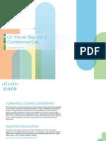Cisco Q1FY12 Earnings Slides