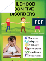 Childhood COGNITIVE Disorders