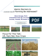 Systemic Barriers to Sustainable Farming