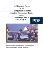 Self Learning Packet for Reorganized Medical Emergency Teams
