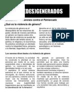 Boletin #1 (Des)generados:¿Qué es la violencia de género?