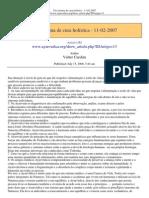 Um Sistema de Cura Holistica 11-02-2007