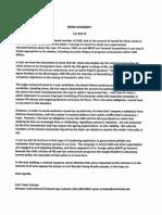 Professor Peter Erlinder's Letter responding to CAIR boycott call