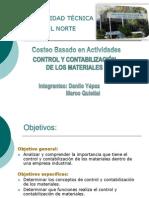 Control y Contabilizacion de Materiales