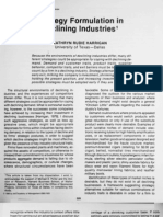 Strategy Formulation in Declining Industries
