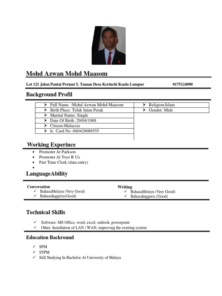 Contoh Resume Bahasa English