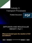 Activity 3 Transport Processes Postlab