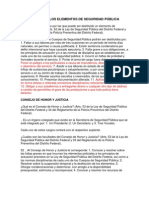 ESTITUCIÓN DE LOS ELEMENTOS DE SEGURIDAD PUBLICA