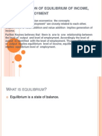 Determination of Equilibrium of Income, Output,
