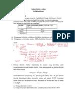 Soal-soal Untuk Latihan UAS Kimia Dasar