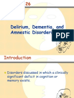 Delirium, Dementia, And Amnestic Disorders