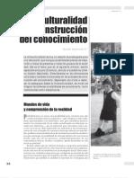 interculturalidad y construcción del conocimiento