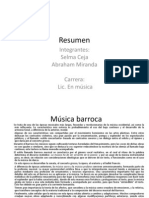 Resumen música barroca completa