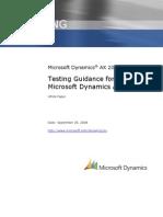 Microsoft Dynamics AX Testing Guidance White Paper