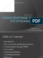 Indian Response to Ipr Upheavals