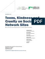 PIP Teens Kindness Cruelty SNS Report Nov 2011 FINAL 110711