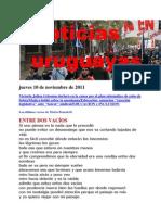 Noticias Uruguayas Jueves 10 de Noviembre de 2011