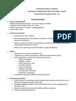 Plano de Ensino - Comport Amen To Ger - ASP Psi 2011.2- Igor Valentim ATUALIZADO