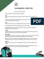 Reader Response Questions Book 2