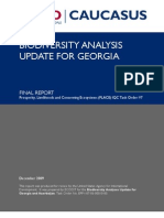 Biodiversity Analysis Update for Georgia 1