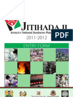 Jitihada II Business Plan Competition Entry Form 2011