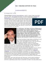Absurdes Geldsystem - Interview mit Prof. Dr. Franz Hörmann