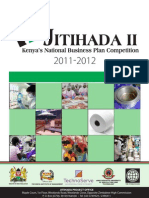 Jitihada II Business Plan Competition _ Brochure 2011