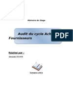 Audit Cycle Achat FNS