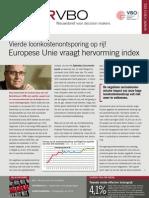 Vierde loonkostenontsporing op rij! Europese Unie vraagt hervorming index, Infor VBO nr 35, 10 november 2011