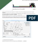Como Hacer Un PDF Desde Word