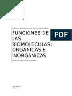 Funciones de Las Biomoleculas