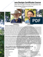 BILL MOLLISON - Permaculture Design Certificate Course - Melbourne - September 2012