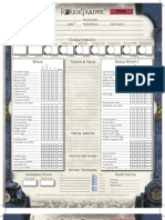 Rogue Trader Character Sheet Official Editable