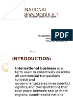 International Business-module 1