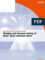 Ruukki Hot Rolled Steels Welding and Thermal Cutting of Raex