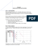 Practical Programme 0 Analysis Uncertainties
