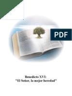 12. El Señor, la mejor heredad - Benedicto-XVI