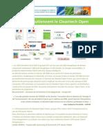 Partenaires Cleantech Open 2011