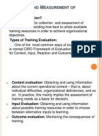 Evaluation and Measurement of Training