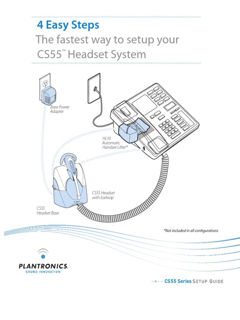 Plantronics Headset Manual Telephone Electrical Engineering
