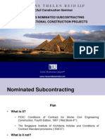 Managing Nominated Subcontract