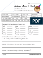 Abbreviations Worksheet