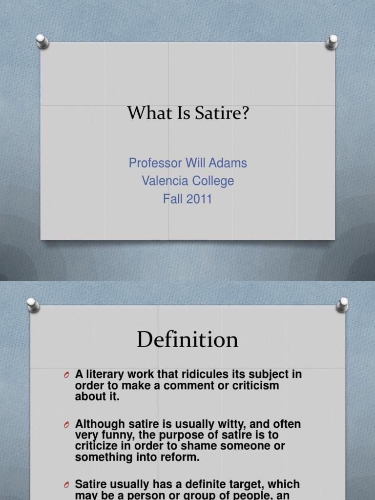 Hum2220 1800 What Is Satire Satire Fiction Literature
