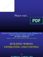 Building Wiring Estimating & Costing