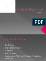 Multiple Regression 1