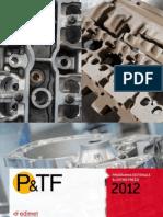 Programma editoriale e listino prezzi P&TF 2012