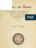 Henry James SUBSTANCE and SHADOW or Morality and Religion in Their Relation to Life Boston 1863