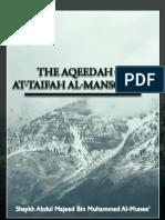 The Aqeedah of at Taifah Al Mansoorah
