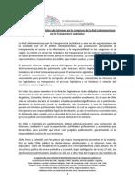Informe sobre presentación y publicidad de las declaraciones juradas en los congresos de Argentina, Colombia, Chile, México y Perú