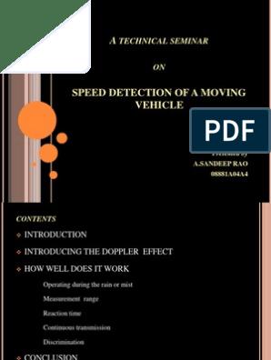 Technical Seminar | Doppler Effect | Speed Limit
